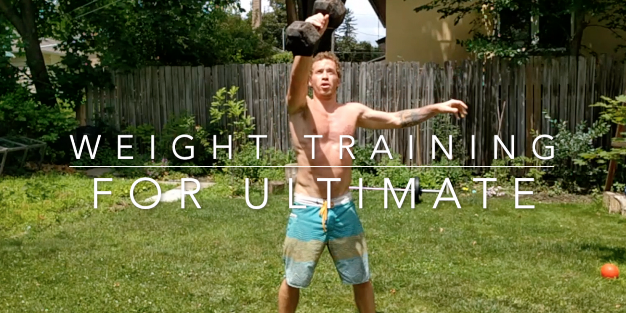 Weight Training For Ultimate Frisbee Will Make You Explosive